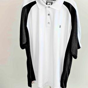 FootJoy Mens Golf Polo Shirt White Black ProDry  P